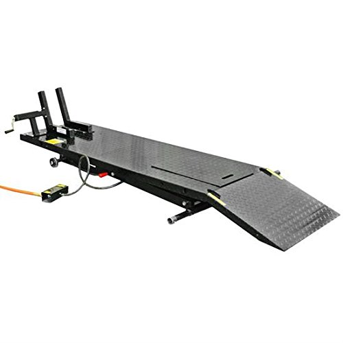 Air Operated Motorcycle Lift Table With Wheel Chock Amp Drop