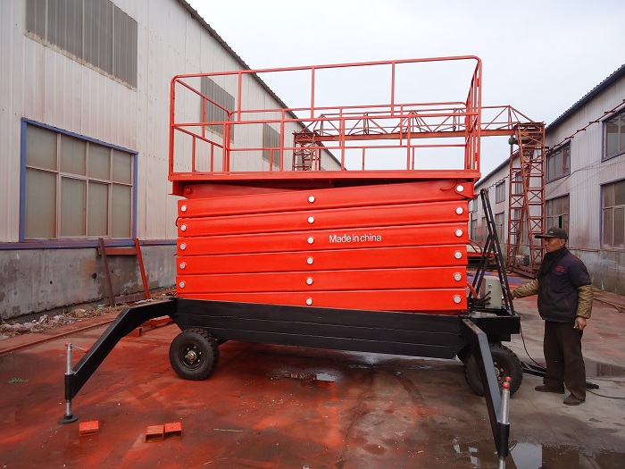 Hydraulic Mobile Scissor Work Lift Platform With 16 Meters