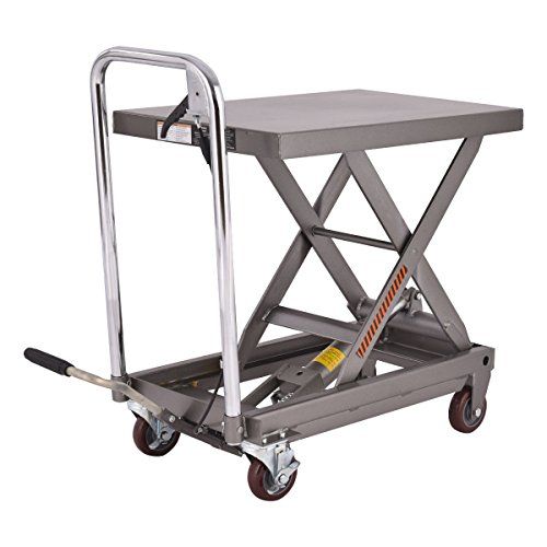 500lb Rolling Table Cart Lift Scissor Hydraulic Cart