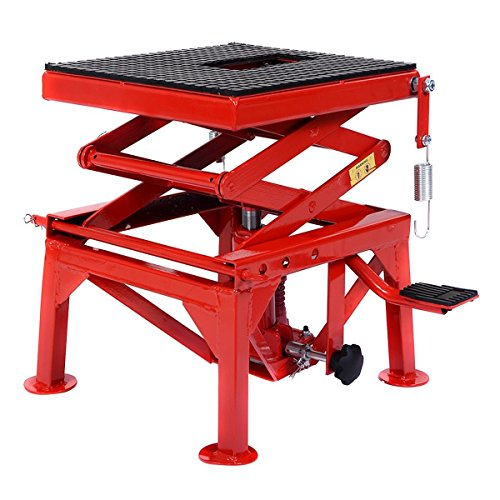 Goplus New 300lb Motorcycle Hydraulic Scissor Floor Jack Lift
